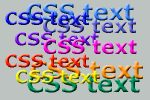 text css
